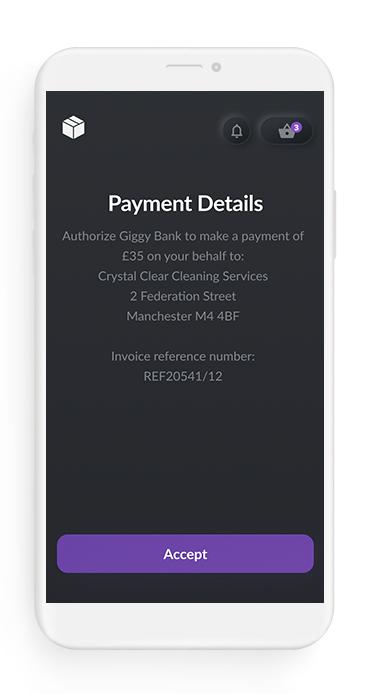 RTP Pre-filled invoice template